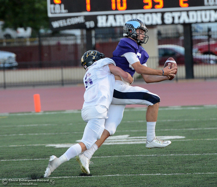 . Payton Williams as the North plays the South in the Lions All-Star Football Game on Saturday, June 17, 2017, in Oroville, California. (Dan Reidel -- Enterprise-Record)