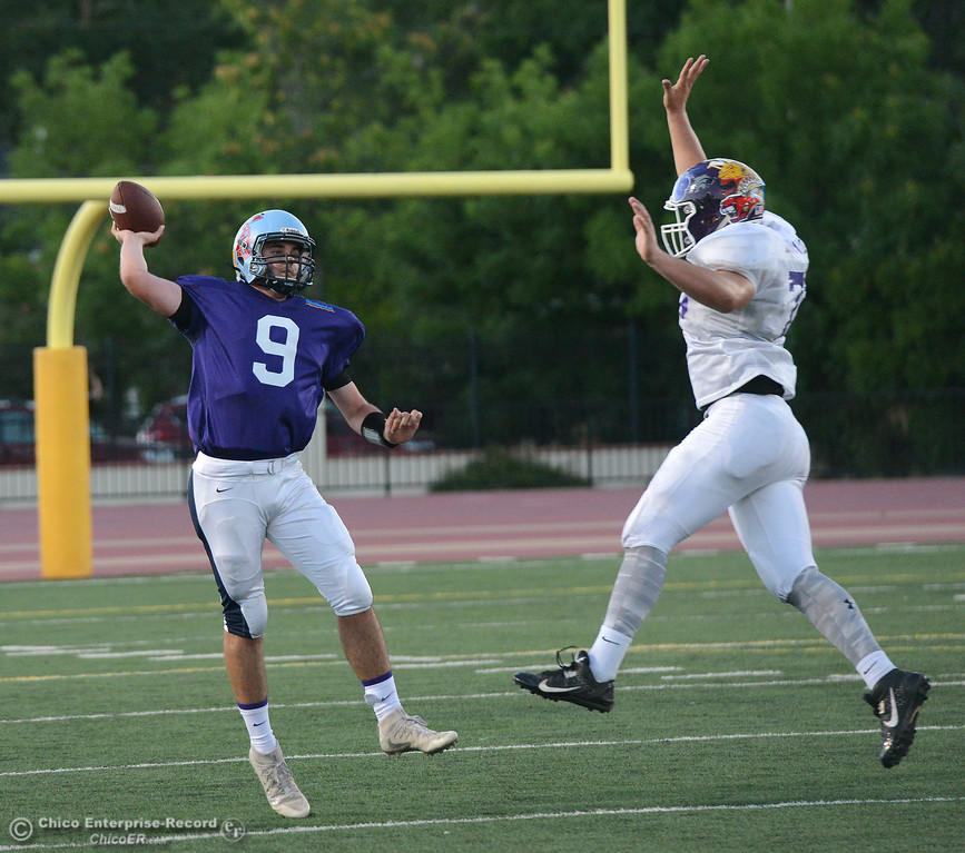. Kyle Lindquist as the North plays the South in the Lions All-Star Football Game on Saturday, June 17, 2017, in Oroville, California. (Dan Reidel -- Enterprise-Record)
