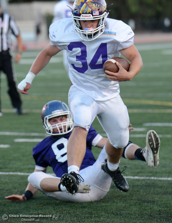 . Colby Harris rushes for a touchdown as the North plays the South in the Lions All-Star Football Game on Saturday, June 17, 2017, in Oroville, California. (Dan Reidel -- Enterprise-Record)