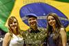 BRASIL - TAUBATÉ - SP 2017-01-13 TROCA DE COMANDO CAVEX - Cerimonia de troca de comando no Batalhão de Manutenção e Suprimento de Aviação do Exercito Brasileiro no CAVEX em Taubaté onde foi passado o comando do Cel Francisco  WELLINGTON Franco de Souza para o Ten Coronel Luis Claudio de Souza FRANKLIN nas instalaçoes do Batalhão na noite de ontem / Brasilien : Militärische Amtsübergabe des Kommandos COMANDO CAVEX in Taubate © Lucas Lacaz Ruiz/LATINPHOTO.org