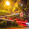 lombard street in san francisco california at night