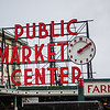 pike place pike market sign in seattle washington