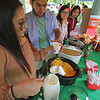 Roger Schneider | The Goshen News<br /> Members of the Goshen High School Multicultural Youth Alliance were on hand Saturday at the Goshen Multicultural Festival to serve up food from Mexico and Latin America for a donation. From left are Miranda Reyes, Christopher Serrano, Victoria Flores and Monserrath Hernandez. Tomas Santos was also helping out.