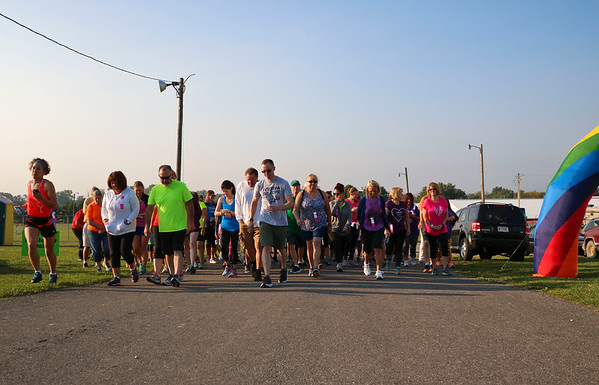 LEANDRA BEABOUT | THE GOSHEN NEWS<br /> Ready, set, go! The Maple City Walk 10k begins.