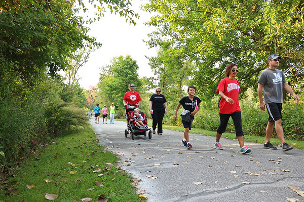 LEANDRA BEABOUT | THE GOSHEN NEWS<br /> Both kids and adults participated in the Maple City Walk 10k from the Elkhart County 4-H Fairgrounds to the Pumpkinvine crossing at C.R. 28.