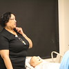 Nursing Professor Ingrid Roberts conducted the tour.