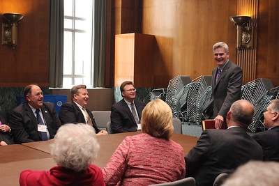LFBF volunteer leadership visits with Senator Bill Cassidy about several issues, such as government regulation, health care changes and the 2018 Farm Bill.