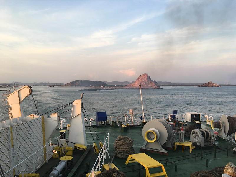 Leaving Mazatlan, overnight ferry
