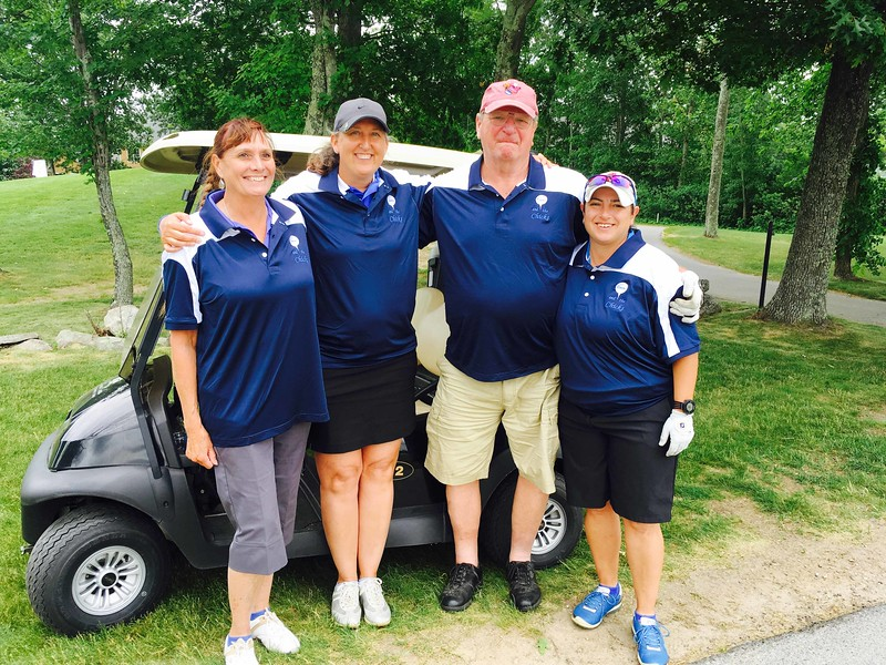 Team Tommy and the Chicks, from left, Deb Nawoichik of Lexington, Kristin Rydzewski of Chelmsford, and Tommy Yates and Sophie Flabouris both of Lowell
