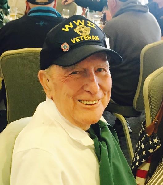 World War II veteran Barney Hovey of Lowell