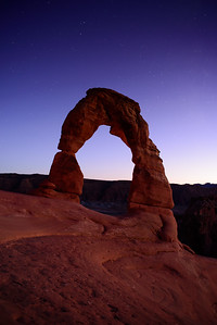 Delicate Arch at twilight
