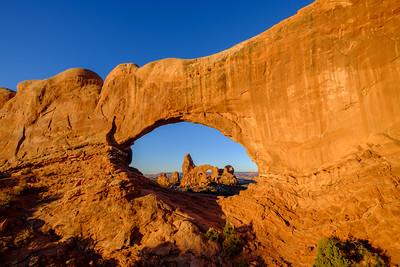Turret Arch seen through North Window