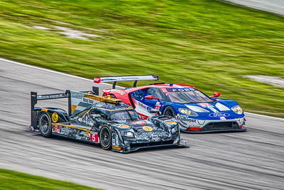 Mobil 1 Sportscar Grand Prix @ Canadian Tire Motorsport Park - IMSA WeatherTech Championship - Race - #5 Joao Barbosa, Christian Fittipaldi, and Filipe Albuquerque in a Cadillac DPi - Mustang Sampling Racing AND #67 Richard Westbrook, and Ryan Briscoe in a Ford GT - Ford Chip Ganassi Racing