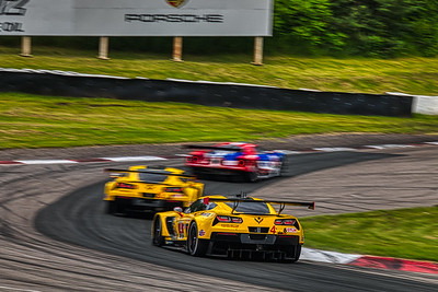 Mobil 1 Sportscar Grand Prix @ Canadian Tire Motorsport Park - IMSA WeatherTech Championship - Race - #4 Oliver Gavin, and Tommy Milner in a Chevrolet Corvette C7.R - Corvette Racing AND #3 Jan Magnussen, and Antonio Garcia in a Chevrolet Corvette C7.R - Corvette Racing AND #67 Richard Westbrook, and Ryan Briscoe in a Ford GT - Ford Chip Ganassi Racing