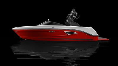 Rally Red Full Color Hull w/ Black Metallic Waterline Gel