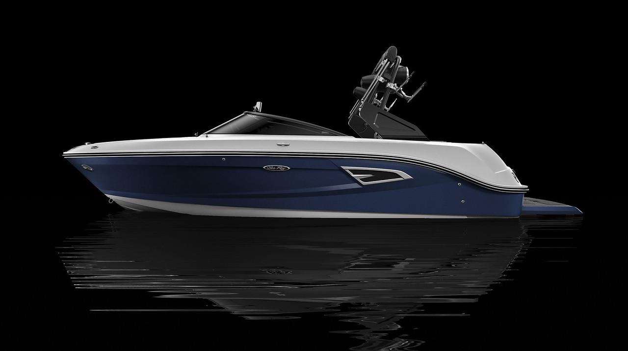 Sea Ray Blue Hull Side