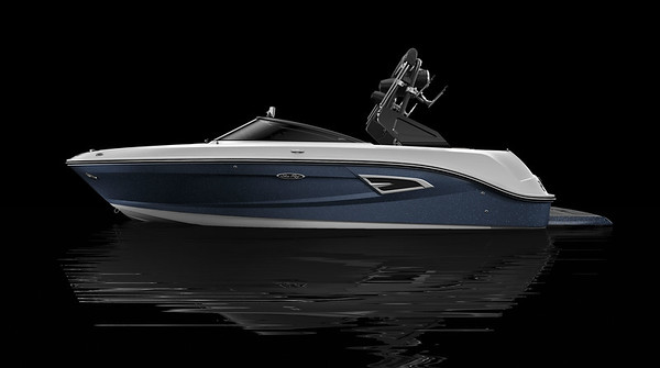 Sea Ray Blue Metallic Hull Side