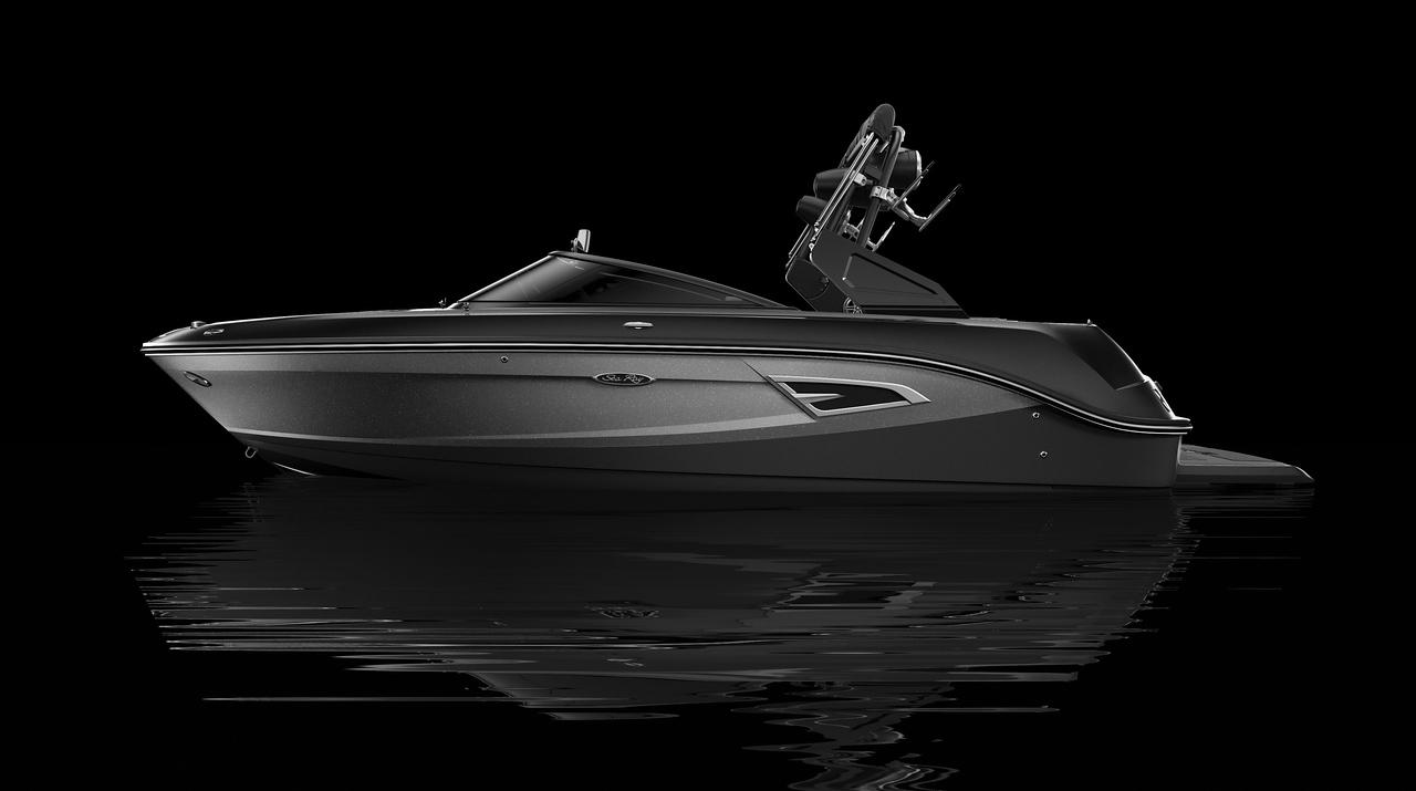 Black Hull Bottom, Black Hull Side Aft, Silver Metallic Hull Side Forward, Black Deck Gel
