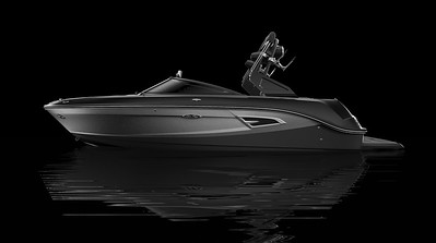 Black Hull Bottom, Black Hull Side Aft, Silver Metallic Hull Side Forward, Black Deck Gel
