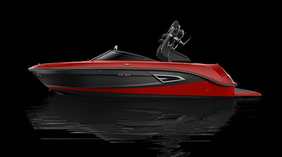 Black Hull Bottom, Rally Red Hull Side Aft, Black Metallic Hull Side Forward, Rally Red Deck Gel