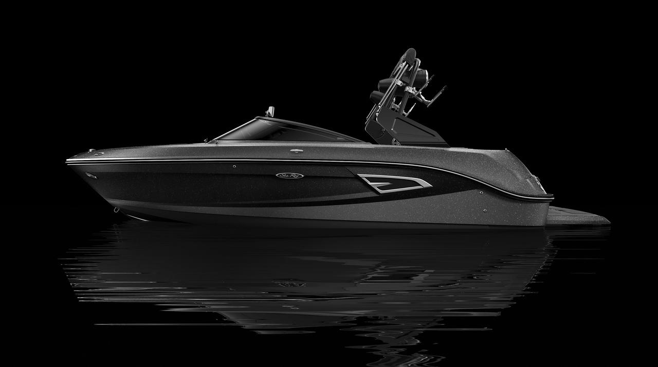 Black Hull Bottom, Gunmetal Hull Side Aft, Black Metallic Hull Side Forward, Gunmetal Deck Gel