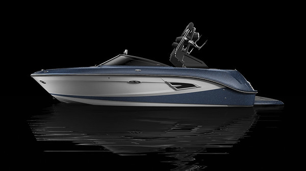 White Hull Bottom, Sea Ray Blue Metallic Hull Side Aft, White Hull Side Forward, Sea Ray Blue Metallic Deck Gel