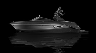 Black Hull Bottom, Black Metallic Hull Side Aft, Silver Metallic Hull Side Forward, Black Metallic Deck Gel
