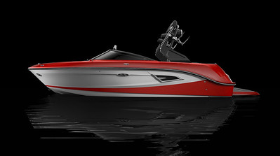 White Hull Bottom, Rally Red Metallic Hull Side Aft, White Hull Side Forward, Rally Red Metallic Deck Gel