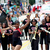 Members of the Proviso West High School marching band and dance team entertained crowds at the Montgomery Fest parade on Sunday. Many other local bands performed, including the Sandwich Renegades, and the East Aurora High School marching band.