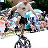 The Mudslingers Bike and Skate Shop stunt team stunned with BMX tricks, flips and stunts on Sunday at Montgomery Fest. In addition to performing on a large ramp, members of the team entertained with ground stunts during the parade on Sunday.