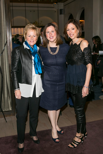 NEW YORK, NY - MARCH 12:  Citymeals on Wheels Board Member Lisa Rosenblum; Citymeals on Wheels Executive Director Beth Shapiro; Citymeals on Wheels Board Member Suri Kasirer at The 20th Annual Sunday Supper to benefit City Meals on Wheels on Sunday March 12, 2017 at Restaurant Daniel in New York, NY (Photo by Stephanie Badini/ManhattanSociety)