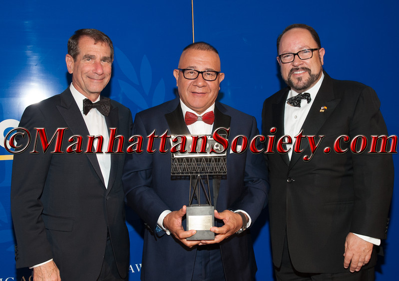 Ambassador Alan Solomont, Henry Cardenas, Goya President Bob Unanue