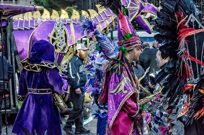 Mummers, Floats, Staging Area