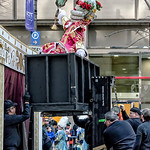 Mummer on a Lift, Backstage