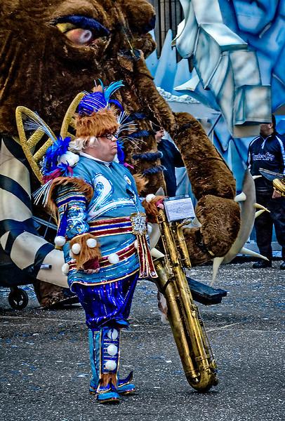 Mummer, Saxophone, Two Floats