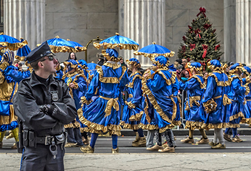 Police Officer, Blue with Yellow Trim Mummers