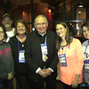"ARCHBISHOP GOMEZ—A few adult leaders from the Diocese of Springfield-Cape Girardeau posed for a (somewhat fuzzy) photo with Abp. Jose Gomez of Los Angeles. ""Archbishop Gomez (center) was the main celebrant at NCYC,"" said Margie Black, of Joplin. ""He stayed in the same hotel as we did, and we were able to visit with him at the end of the evening back at our hotel after that beautiful Mass--such a nice man with an endearing sense of humor."" (<i>The Mirror</i>)"