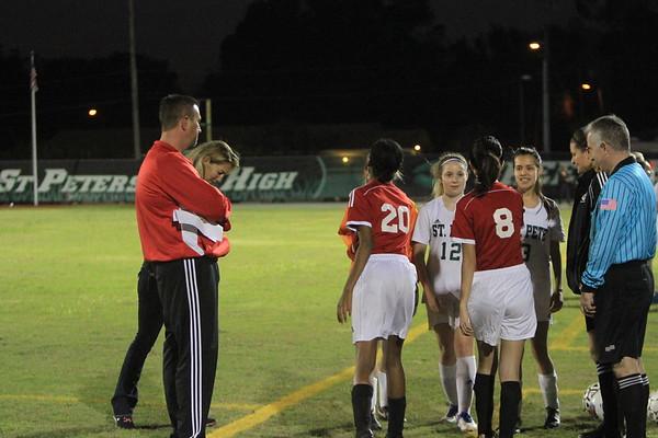 NE JV Girls Soccer vs St. Pete 12-12-17