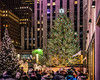It was crazy crowded at the Rockefeller Center Christmas Tree on Saturday evening.