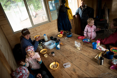 Inside the Cook Cabin.