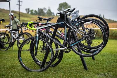 ROCx Racing bikes looking spotless pre-race.