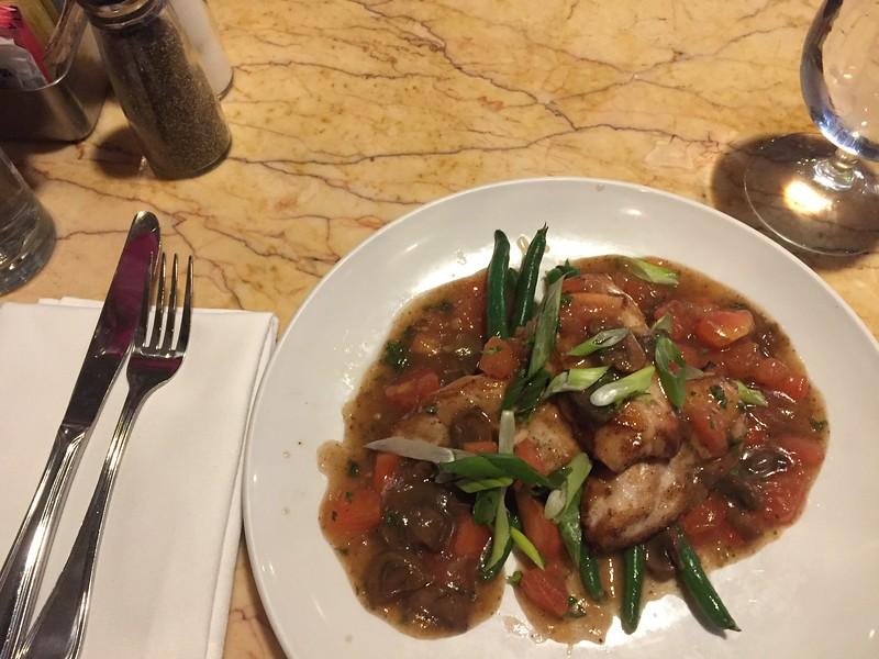 Chicken marsala at Cyrano's