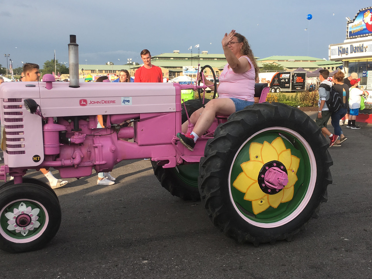 Karen Alvord - Oneida Daily Dispatch Fair goers enjoy the Great New York State Fair in Geddes on Monday, Aug. 28, 2017.