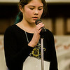 Sophie Pankratz, from Frances Drake Elementary, competes in the 2017 North Central Massachusetts Regional Spelling Bee, sponsored by the Sentinel & Enterprise, at the DoubleTree by Hilton Hotel in Leominster on Tuesday, March 21. SENTINEL & ENTERPRISE / Ashley Green