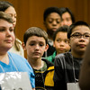 Spellers listen in to directions prior to the 2017 North Central Massachusetts Regional Spelling Bee, sponsored by the Sentinel & Enterprise, at the DoubleTree by Hilton Hotel in Leominster on Tuesday, March 21. SENTINEL & ENTERPRISE / Ashley Green