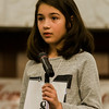 Maggie Leighton, from Johnny Appleseed Elementary School, competes in the 2017 North Central Massachusetts Regional Spelling Bee, sponsored by the Sentinel & Enterprise, at the DoubleTree by Hilton Hotel in Leominster on Tuesday, March 21. SENTINEL & ENTERPRISE / Ashley Green