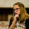 Torah Smith, from CHEC Homeschoolers, competes in the 2017 North Central Massachusetts Regional Spelling Bee, sponsored by the Sentinel & Enterprise, at the DoubleTree by Hilton Hotel in Leominster on Tuesday, March 21. SENTINEL & ENTERPRISE / Ashley Green