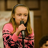 Kayla  Jakubiak, from Fall Brook Elementary School, competes in the 2017 North Central Massachusetts Regional Spelling Bee, sponsored by the Sentinel & Enterprise, at the DoubleTree by Hilton Hotel in Leominster on Tuesday, March 21. SENTINEL & ENTERPRISE / Ashley Green