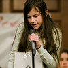 Amy Vivance, from Luther Burbank Middle School, competes in the 2017 North Central Massachusetts Regional Spelling Bee, sponsored by the Sentinel & Enterprise, at the DoubleTree by Hilton Hotel in Leominster on Tuesday, March 21. SENTINEL & ENTERPRISE / Ashley Green