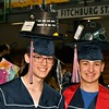 North Middlesex HS 2017 Graduates Jacob Szczypinski and Jackson Rea  went all out decorating their Mortar Boards.  <br /> Sentinel & Enterprise/ Jim Fay